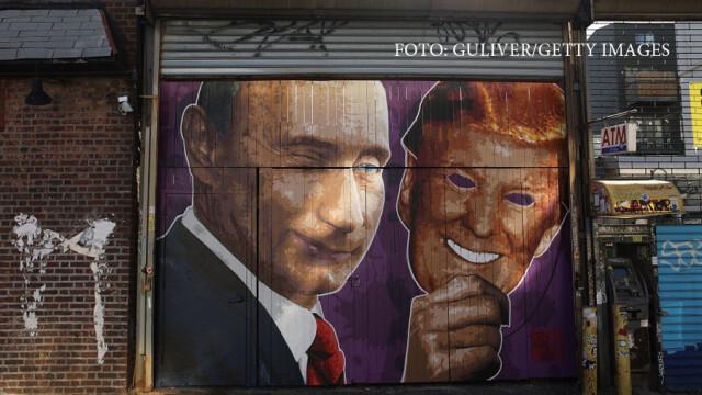 grafitti Trump Putin