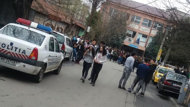 Alerta cu bomba la liceul Ion Barbu