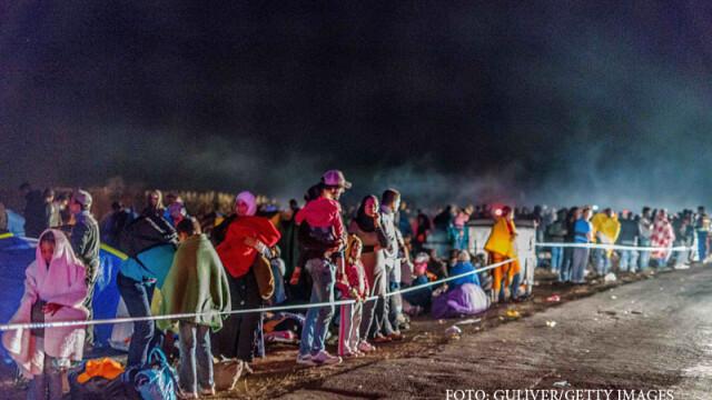 migranti la granita intre Serbia si Ungaria