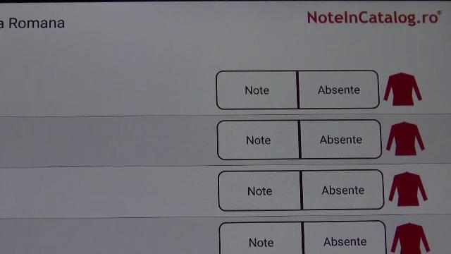 aplicatie scoala note