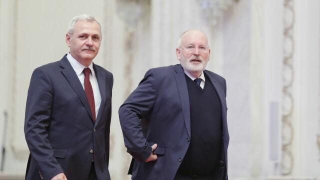 Politico.eu: Dragnea, întrebat la Congresul PES de ce i s-a făcut dosar lui Timmermans - Imaginea 1