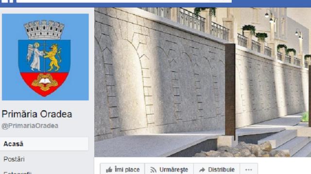 pagina de facebook a primariei oradea