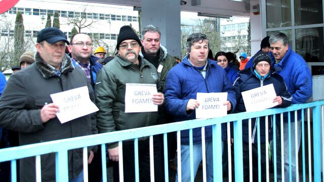 Protest la Termocentrala Mintia