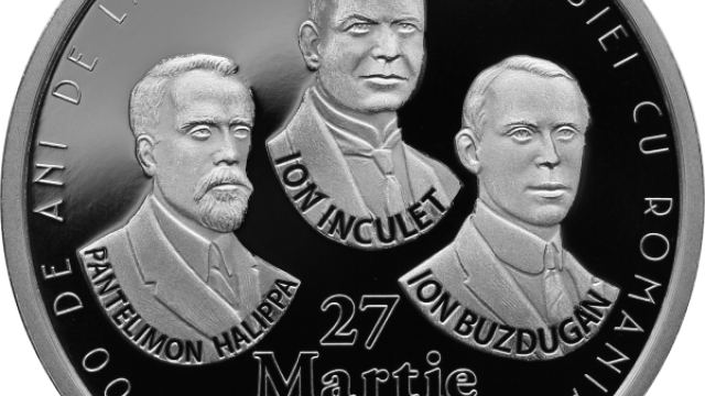 BNR a lansat monede de 100 de lei, dedicat împlinirii a 100 de ani de la Marea Unire - Imaginea 4