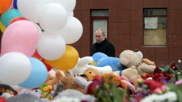 """Putin jură să-i pedepsească pe cei vinovați pentru incendiul dintr-un mall: """"Neglijență criminală!"""""""