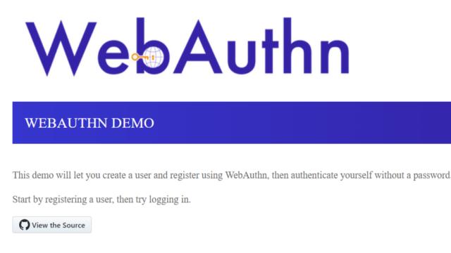 web authentication
