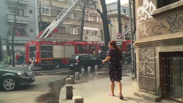 Incendiu în centrul Capitalei. Un bărbat a fost găsit mort de pompieri
