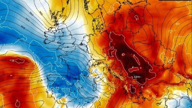 Val de aer foarte cald în România
