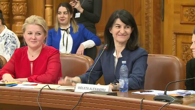 Încă un episod de ceartă în Parlament, la audierea Violetei Alexandru: E bine să nu fii rea