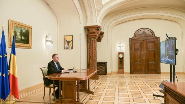Klaus Iohannis va susține o declarație de presă privind măsurile de gestionare a coronavirusului