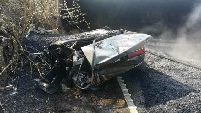 Accident in Arad, după ce un camion cu bitum fierbinte s-a răsturnat - 4