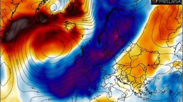 Val de aer arctic în Europa