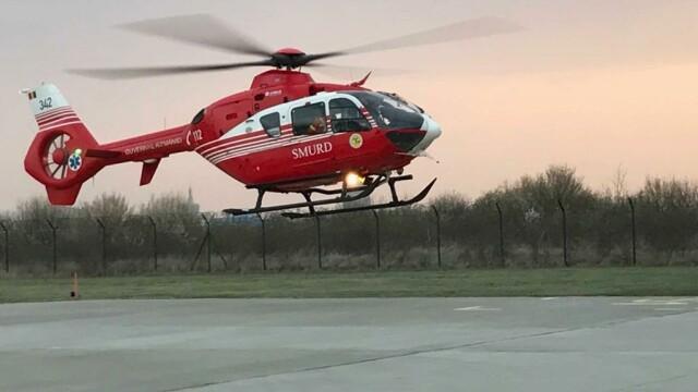 4 bebeluşi de la Suceava şi Botoşani, transportați cu elicoptere MAI la București