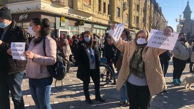protest Timișoara