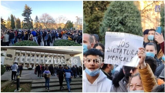Protest cu sute de persoane, la Constanța: \
