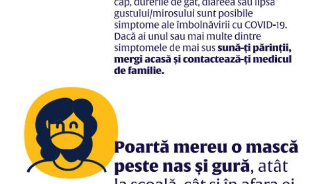 Cum arată ghidul de prevenire a Sars-Cov-2 destinat elevilor din România. GALERIE FOTO - 9