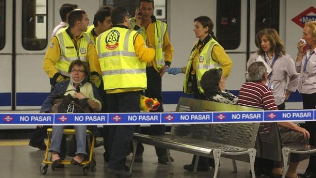 Panica in metroul din Madrid! O garnitura a sarit de pe sine