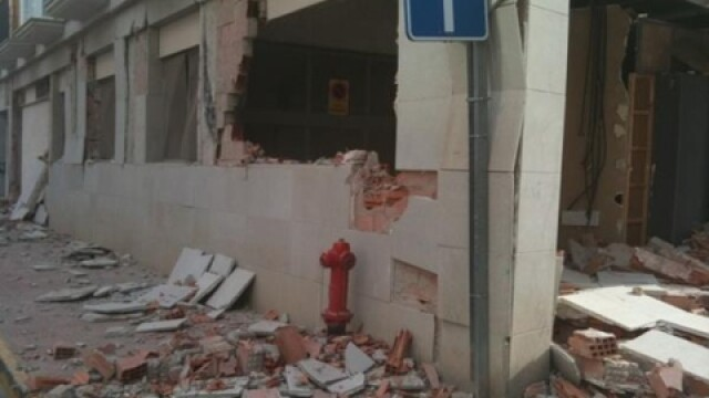 VIDEO. Cutremurul din Spania. A filmat cum se prabuseste cladirea