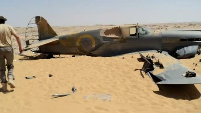 Un avion din Al Doilea Razboi Mondial, prabusit in Sahara, a fost gasit dupa 70 de ani. VIDEO