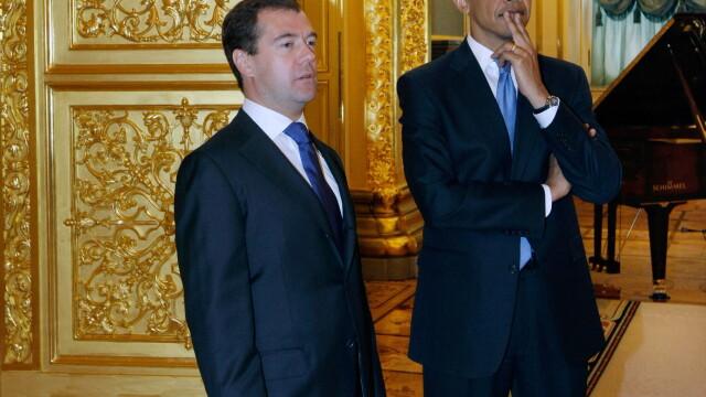 Dmitri Medvedev si Barack Obama