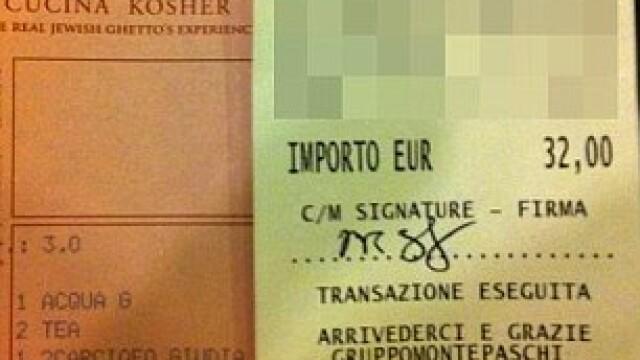 Cat a platit Mark Zuckerberg pe o cina romantica, in luna de miere, la Roma. FOTO cu nota de plata - Imaginea 2