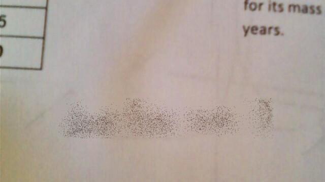 Mesajul lasat de un elev pe lucrarea de control. Profesoara: \