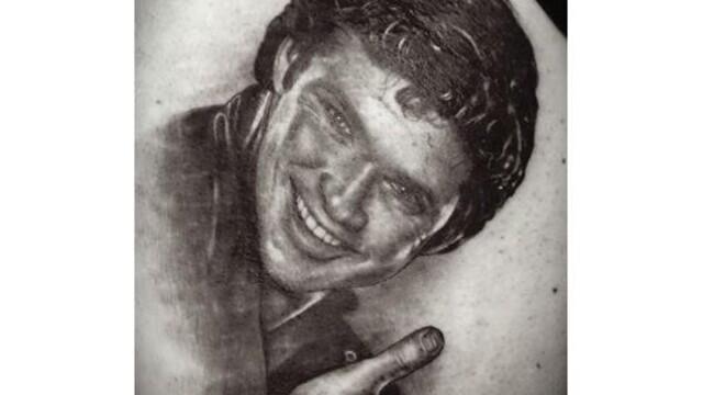 Ce si-a tatuat un barbat din Spania dupa ce a pierdut un pariu.