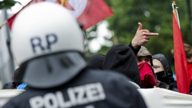 Protestele anti-austeritate de la Frankfurt s-au incheiat. Peste 1.000 de oameni au iesit in strada - Imaginea 2