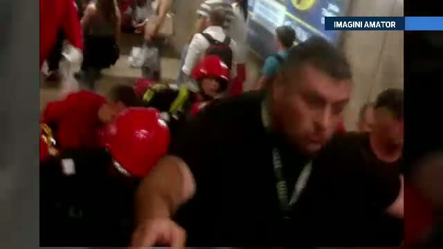 Incident grav la statia de metrou Dristor. Un barbat a fost la un pas de moarte, dupa ce a cazut pe sine
