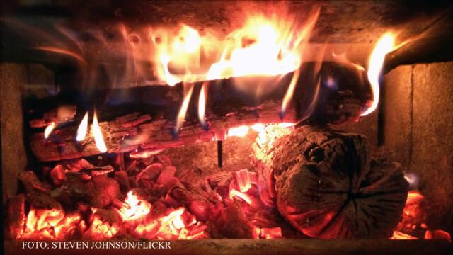 lemne care ard in soba