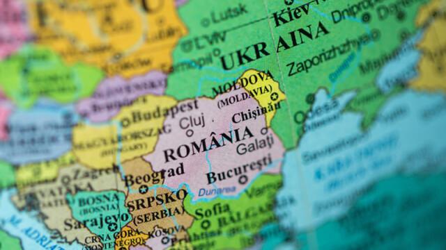 harta Europa de Est Romania