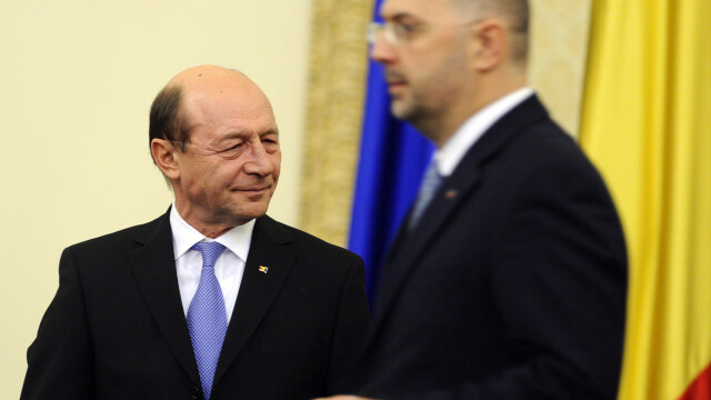 Traian Basescu si Kelemen Hunor - Agerpres