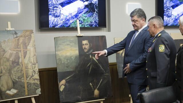 Petro Poroshenko si tablourile furate - Agerpres