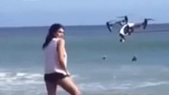 Lovita peste fata de o drona in timpul unei sedinte foto. Cum arata modelul dupa nefericitul incident. VIDEO
