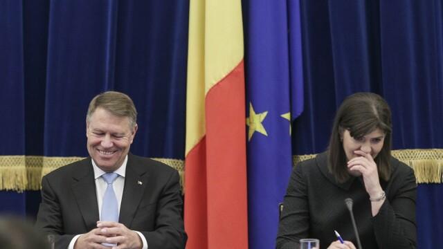 Klaus Iohannis si Laura Codruta Kovesi