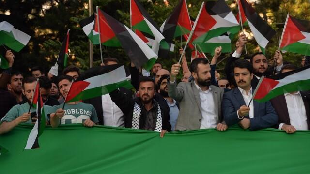 protest la Ambasada Israelului din Ankara