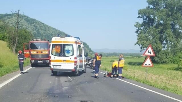 Un motociclist austriac a murit, în urma unui accident rutier pe DN 7. FOTO