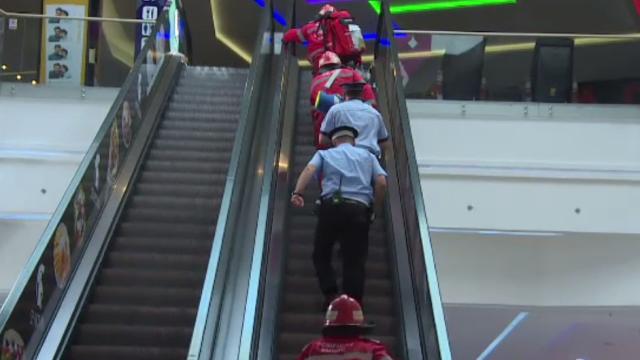 Mall-ul din Târgu Jiu, evacuat pentru un exercițiu al pompierilor