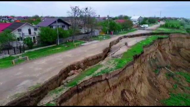 Stare de alertă în Constanța. Imaginile filmate cu o dronă arată dimensiunea dezastrului