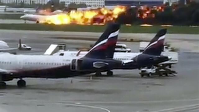 Avionul cu pasageri care a luat foc pe aeroport în Moscova. Bilanțul morților revizuit la 41 - Imaginea 1