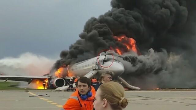 Avionul în flăcări din Moscova - 1