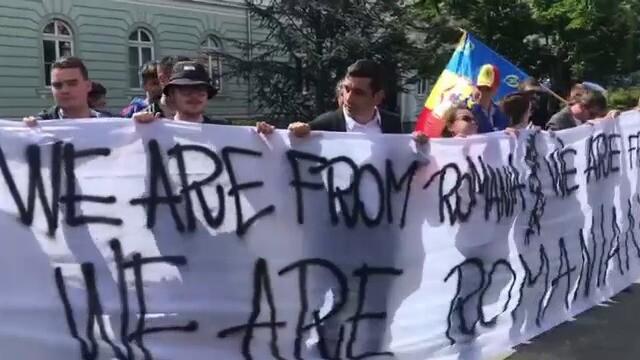 Summitul de Sibiu, marcat de trei proteste diferite. Au intervenit jandarmii. FOTO - Imaginea 5