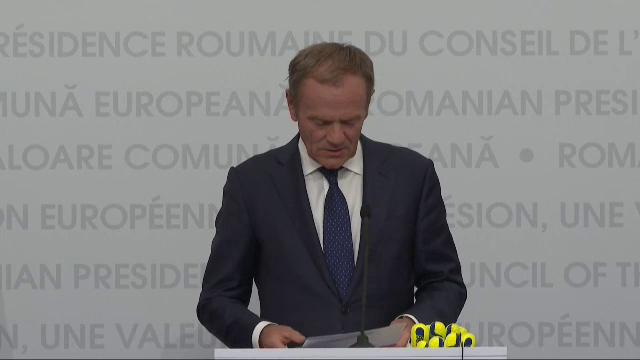 """Donald Tusk a vorbit în română la Sibiu: """"Toată Europa s-a îndrăgostit de voi"""" - Imaginea 1"""