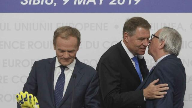 """Donald Tusk a vorbit în română la Sibiu: """"Toată Europa s-a îndrăgostit de voi"""" - Imaginea 4"""