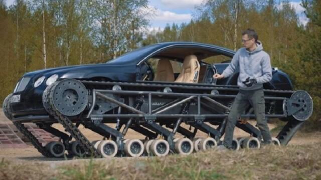 Rușii au transformat un Bentley într-un tanc. VIDEO viral - Imaginea 2