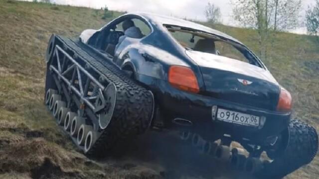Rușii au transformat un Bentley într-un tanc. VIDEO viral - Imaginea 3