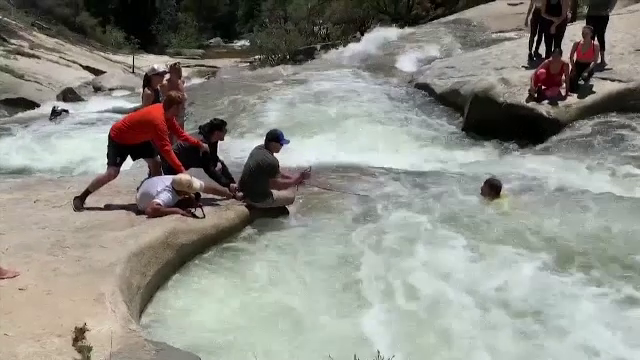 Bărbat salvat de la înec cu un băț. Cum s-a întâmplat