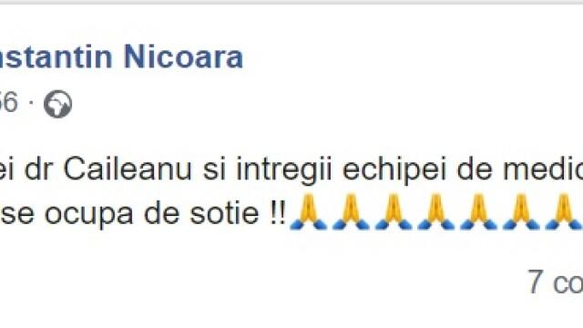 Primul mesaj postat de soțul mezzosopranei Maria Nicoară, după ce solista ar fi căzut pe scări - Imaginea 2