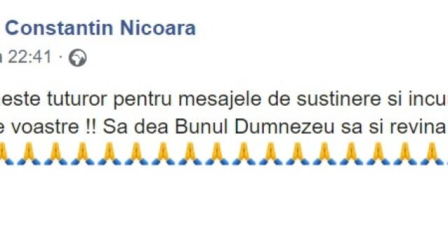 Primul mesaj postat de soțul mezzosopranei Maria Nicoară, după ce solista ar fi căzut pe scări - Imaginea 3