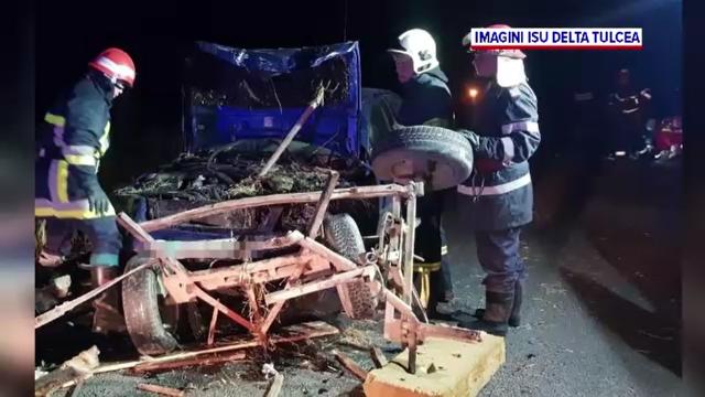 Imapact mortal la Tulcea. Un autoturism condus de un tânăr de 26 de ani a spulberat o căruță